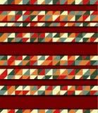 Διανυσματική απεικόνιση με το μωσαϊκό και το ξύλο απεικόνιση αποθεμάτων