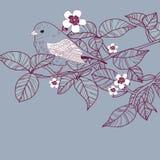 Διανυσματική απεικόνιση με το πουλί απεικόνιση αποθεμάτων