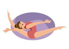 Διανυσματική απεικόνιση μιας gymnast εκτέλεσης στοκ φωτογραφία