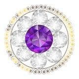 Διανυσματική απεικόνιση μορφής λουλουδιών διαμαντιών πορφυρή Στοκ φωτογραφία με δικαίωμα ελεύθερης χρήσης