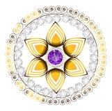 Διανυσματική απεικόνιση μορφής λουλουδιών διαμαντιών Στοκ φωτογραφία με δικαίωμα ελεύθερης χρήσης