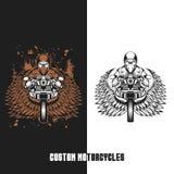 Διανυσματική απεικόνιση μοτοσικλετών συνήθειας ποδηλατών διανυσματική απεικόνιση