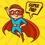 Διανυσματική απεικόνιση μπαμπάδων Superheroes έξοχη Στοκ Φωτογραφία