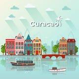Διανυσματική απεικόνιση νησιών του Κουρασάο στοκ φωτογραφίες