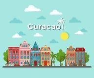 Διανυσματική απεικόνιση νησιών του Κουρασάο διανυσματική απεικόνιση