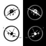 Διανυσματική απεικόνιση λογότυπων αεροσκαφών Στοκ Εικόνες