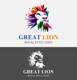 Διανυσματική απεικόνιση λογότυπων λιονταριών ζωηρόχρωμη Στοκ εικόνες με δικαίωμα ελεύθερης χρήσης