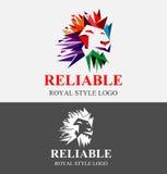 Διανυσματική απεικόνιση λογότυπων λιονταριών Στοκ Φωτογραφία
