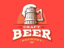 Διανυσματική απεικόνιση λογότυπων μπύρας τεχνών, σχέδιο ζυθοποιείων εμβλημάτων διανυσματική απεικόνιση