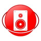 Διανυσματική απεικόνιση ομιλητών, κόκκινο εικονίδιο διανυσματική απεικόνιση