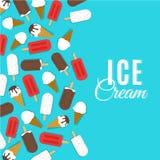 Διανυσματική απεικόνιση παγωτού Στοκ Εικόνες