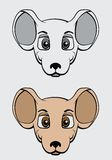 Διανυσματική απεικόνιση ποντικιών κινούμενων σχεδίων Στοκ φωτογραφίες με δικαίωμα ελεύθερης χρήσης