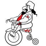 Διανυσματική απεικόνιση - ποδηλάτης στο ποδήλατο παιδιών Στοκ Φωτογραφίες