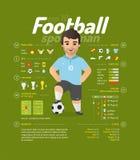 Διανυσματική απεικόνιση ποδοσφαίρου Στοκ Φωτογραφία
