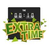 Διανυσματική απεικόνιση ποδοσφαίρου Extratime με Στοκ φωτογραφία με δικαίωμα ελεύθερης χρήσης