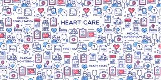 Διανυσματική απεικόνιση προσοχής καρδιών Στοκ Φωτογραφίες