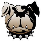 Διανυσματική απεικόνιση προσώπου σκυλιών φρουράς Στοκ Εικόνα