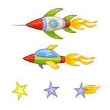 Διανυσματική απεικόνιση πυραύλων κινούμενων σχεδίων Ελεύθερη απεικόνιση δικαιώματος