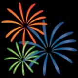 Διανυσματική απεικόνιση πυροτεχνημάτων Στοκ εικόνα με δικαίωμα ελεύθερης χρήσης