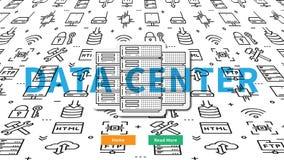 Διανυσματική απεικόνιση σελίδων κεντρικού ιστοχώρου κεντρικών υπολογιστών στοιχείων Στοκ φωτογραφία με δικαίωμα ελεύθερης χρήσης