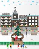 Διανυσματική απεικόνιση σε ένα θέμα Χριστουγέννων απεικόνιση αποθεμάτων