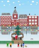 Διανυσματική απεικόνιση σε ένα θέμα Χριστουγέννων ελεύθερη απεικόνιση δικαιώματος