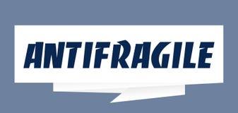 Διανυσματική απεικόνιση σημαδιών λεκτικών φυσαλίδων εγγράφου Antifragile ελεύθερη απεικόνιση δικαιώματος