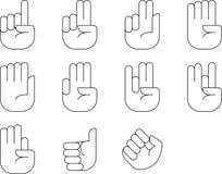 Διανυσματική απεικόνιση σημαδιών χεριών μετρώντας από τα crafteroks διανυσματική απεικόνιση
