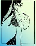 Διανυσματική απεικόνιση σκίτσων μόδας αναδρομική Στοκ εικόνες με δικαίωμα ελεύθερης χρήσης