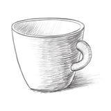 Διανυσματική απεικόνιση σκίτσων φλυτζανιών Στοκ φωτογραφία με δικαίωμα ελεύθερης χρήσης