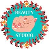Διανυσματική απεικόνιση στούντιο ομορφιάς Στοκ φωτογραφία με δικαίωμα ελεύθερης χρήσης