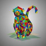 Διανυσματική απεικόνιση στο polygonal ύφος Όμορφο δασικό ζώο στο γκρίζο υπόβαθρο Απεικόνιση αποθεμάτων