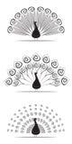 Διανυσματική απεικόνιση συλλογής Peacock Στοκ εικόνα με δικαίωμα ελεύθερης χρήσης