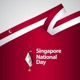 Διανυσματική απεικόνιση σχεδίου προτύπων εθνικής μέρας της Σιγκαπούρης διανυσματική απεικόνιση