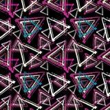Διανυσματική απεικόνιση σχεδίων γκράφιτι μικρή psychedelic άνευ ραφής Στοκ Φωτογραφία
