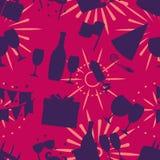 Διανυσματική απεικόνιση σχεδίων εορτασμού άνευ ραφής ελεύθερη απεικόνιση δικαιώματος