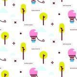 Διανυσματική απεικόνιση σχεδίων λούνα παρκ Στοκ Εικόνα