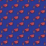 Διανυσματική απεικόνιση σχεδίων του Λονδίνου άνευ ραφής Στοκ εικόνα με δικαίωμα ελεύθερης χρήσης