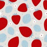 Διανυσματική απεικόνιση σχεδίων φραουλών άνευ ραφής Στοκ εικόνες με δικαίωμα ελεύθερης χρήσης