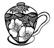 Διανυσματική απεικόνιση σχεδίων φλυτζανιών καφέ Στοκ Εικόνα