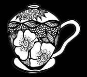 Διανυσματική απεικόνιση σχεδίων φλυτζανιών καφέ Στοκ φωτογραφίες με δικαίωμα ελεύθερης χρήσης