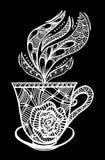 Διανυσματική απεικόνιση σχεδίων φλυτζανιών καφέ Στοκ εικόνες με δικαίωμα ελεύθερης χρήσης