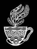 Διανυσματική απεικόνιση σχεδίων φλυτζανιών καφέ Στοκ Φωτογραφίες