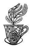 Διανυσματική απεικόνιση σχεδίων φλυτζανιών καφέ Στοκ Εικόνες