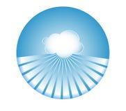 Διανυσματική απεικόνιση σύννεφων διανυσματική απεικόνιση