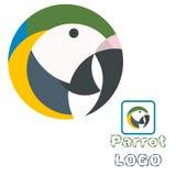 Διανυσματική απεικόνιση τέχνης διασκέδασης λογότυπων παπαγάλων Στοκ φωτογραφία με δικαίωμα ελεύθερης χρήσης