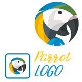 Διανυσματική απεικόνιση τέχνης διασκέδασης λογότυπων παπαγάλων Στοκ φωτογραφίες με δικαίωμα ελεύθερης χρήσης