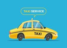 Διανυσματική απεικόνιση ταξί κινούμενων σχεδίων Στοκ εικόνες με δικαίωμα ελεύθερης χρήσης