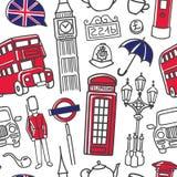 Διανυσματική απεικόνιση της αραβικής γλώσσας στο άνευ ραφής σχέδιο λεκτικού bubblesVector με τα σύμβολα του Λονδίνου στα μπλε και Στοκ Εικόνες
