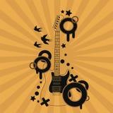 Διανυσματική απεικόνιση της αφηρημένης κιθάρας Στοκ εικόνα με δικαίωμα ελεύθερης χρήσης